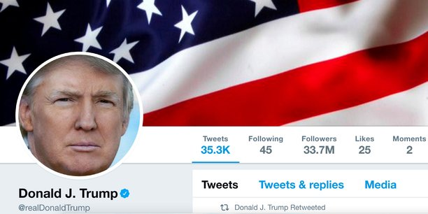Depuis son élection à la Maison-Blanche en novembre dernier, le président Donald Trump utilise Twitter comme son moyen de communication privilégié.