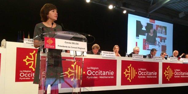 Carole Delga, lors de l'assemblée plénière du 3 novembre 2017