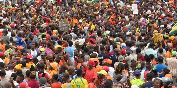 Manifestation des membres des partis de l'opposition, le 7 septembre 2017, dans la capitale togolaise Lomé.