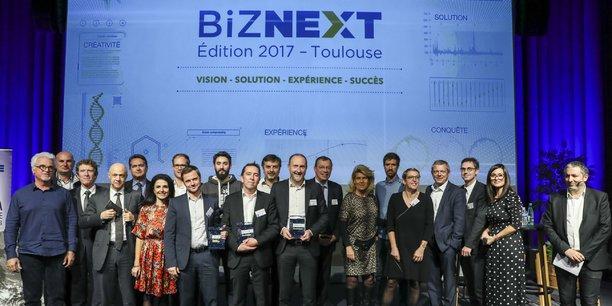 Lauréats, parrains et membres du jury Biznext 2017