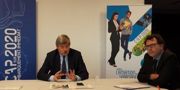 Pierre Chauvois et François Cartier, respectivement directeur général et directeur de la communication de la BPS