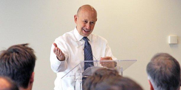 Lloyd Blankfein, le patron de Goldman Sachs, à Paris pour célébrer le trentième anniversaire de l'implantation de la banque américaine en France.