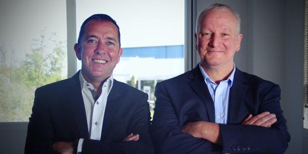 Éric Cariou et Jan Mennekens, les deux co-fondateurs d'Uwinloc.