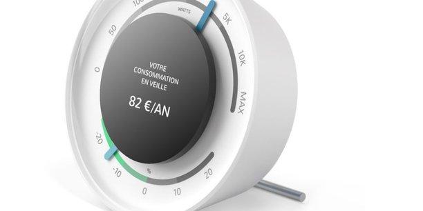 Le boitier conçu par l'entreprise Ecojoko permet d'analyser la consommation d'énergie des appareils électriques