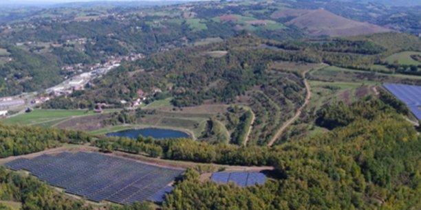 La centrale solaire de la Découverte, à Decazeville (12), mise en service en décembre 2016 par Valeco.