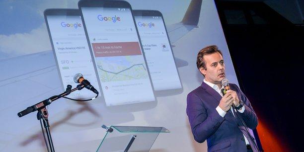 François Loviton, directeur retail et e-commerce de Google France, lors de Biznext Bordeaux, le 20 novembre 2017.