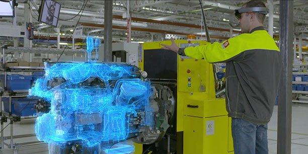 Immersion développe de nombreuses applications pour l'industrie en réalité virtuelle, augmentée ou mixte, comme ici pour Renault Trucks.