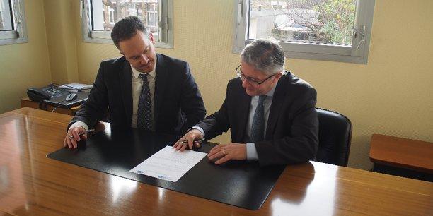 Olivier Exertier, secrétaire général du CLARA et François Dupré, directeur général de la Fondation ARC