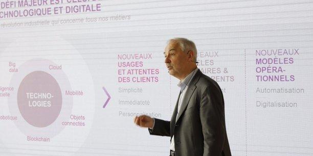 François Pérol, le président du directoire de BPCE (Banques Populaires Caisses d'Epargne), martèle que la transformation numérique reste le défi majeur des banques pour les années qui viennent.