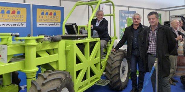 Le tracteur vigneron 100 % électrique présenté au Sitevi 2017