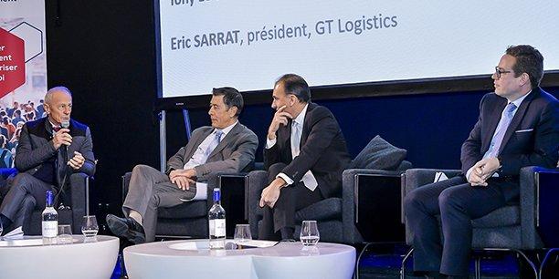 Eric Sarrat (GT Logistics), Marc Coquart (groupe La Poste), Tony Lourenço (Territoires TH) et Jean-François Leu (Action Logement)