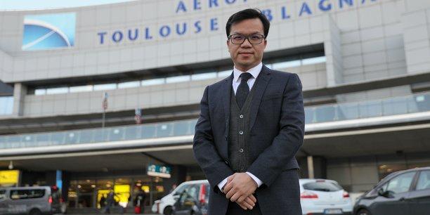 Mike Poon à l'aéroport de Toulouse ce lundi 4 décembre.