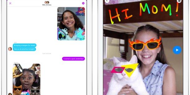 Lancée lundi, l'application Messenger Kids de Facebook s'adresse aux 6-12 ans.