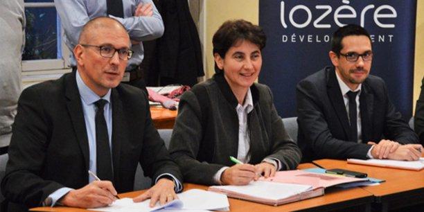 R. Crueyze (FBF Lozère) et S. Pantel (Conseil départemental de Lozère)