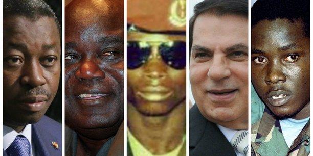 Faure Gnassigbé ; Laurent Désiré Kabila ; Yahya Jammeh ; Zine Abedine Ben Ali ; et Valentin Melvin Strasser.