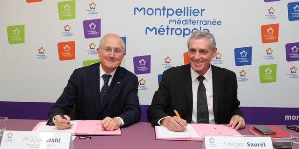 Philippe Wahl, P-dg du Groupe La Poste et Philippe Saurel.