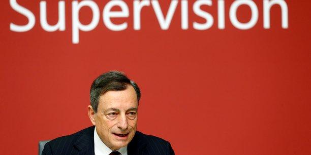 Mario Draghi, le président de la BCE et du Groupe des gouverneurs de banque centrale et des responsables du contrôle bancaire (GHOS) du Comité de Bâle s'est dit ravi et fier de présenter l'accord trouvé qui est un compromis à l'issue de près de deux ans de discussions.