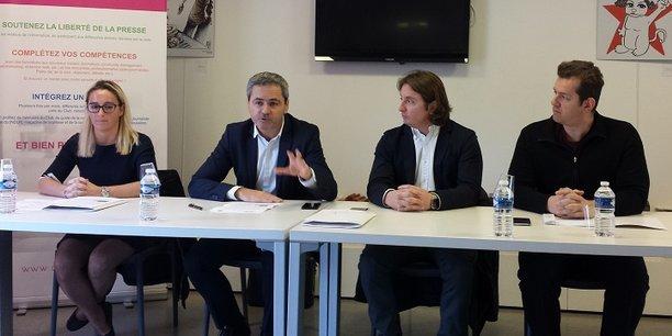 E.Gagnepain (Care Labs), S. Hervé (Medef), V. Daffourd (Care Labs), T. Tsagalos (Care Labs)