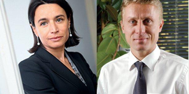 C. d'Agrain et B. Religieux, respectivement présidente et membre du directoire d'Irdi Soridec Gestion