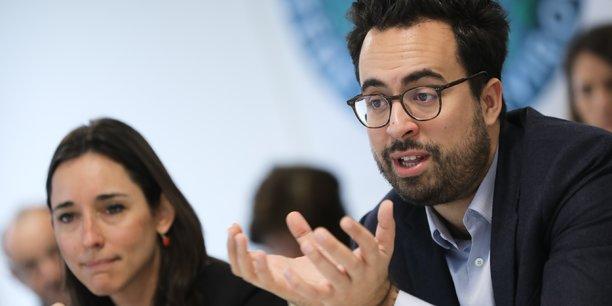 Deux secrétaires d'État à Toulouse : Brune Poirson (Transition énergétique) et Mounir Mahjoubi (Numérique).