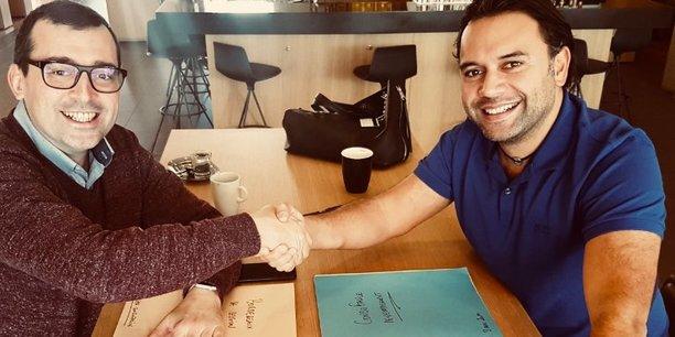 F. Catalano (ConsoFacile) et C. Nallet (Atipik) ont conclu leur accord fin 2017