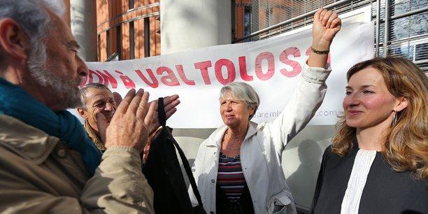 Manifestation des opposants à Val Tolosa à Toulouse en 2015.