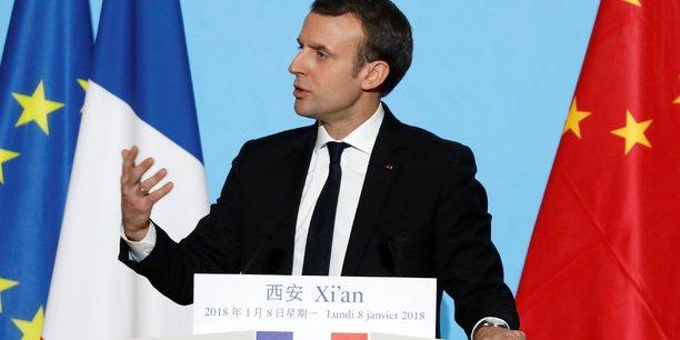 Pour son premier voyage en Chine, Macron propose une coopération sur le climat.