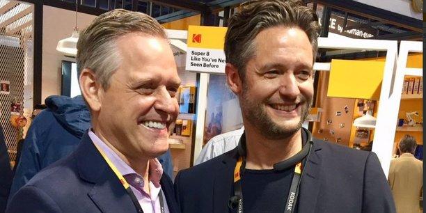 AU CES de Las Vegas, le patron de Kodak, Jeff Clarke, avec celui de Wenn Digital, Jan Denecke, son partenaire pour