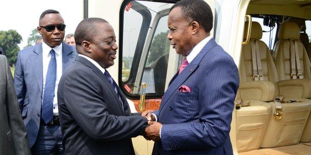 Joseph Kabila, président de la RDC, et Denis Sassou Nguesso, président du Congo et président en exercice de la Conférence internationale de la région des Grands Lacs (CIRGL).