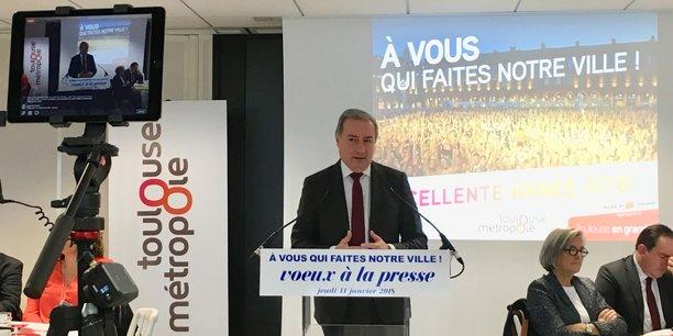 Jean-Luc Moudenc, lors de ses voeux à la presse, a dénoncé le manque de policiers nationaux dans la ville de Toulouse.