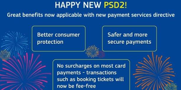 La Commission met en avant la meilleure protection des consommateurs et les paiements plus sécurisés apportés par la directive DSP2. Le volet le plus sensible a porté sur l'accès aux données de comptes des clients, que les banques ne voulaient pas ouvrir aux nouveaux entrants. Un compromis a été trouvé mais qui n'entrera en pratique qu'en septembre 2019.