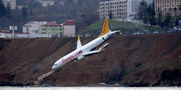 Un avion turc rate son atterrissage au bord de la mer noire[reuters.com]