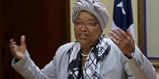 File photo: liberia's president ellen johnson sirleaf speaks during a news conference at the presidential palace in monrovia[reuters.com]
