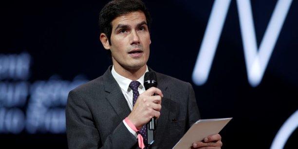 Mathieu Gallet, le patron de Radio France, le 2 décembre 2017, lors d'une conférence.