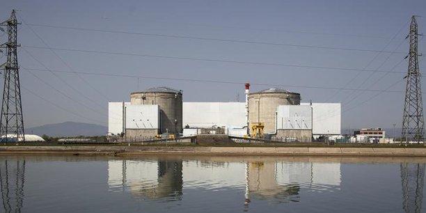 Sébastien Lecornu visite le site de la centrale nucléaire — Fessenheim