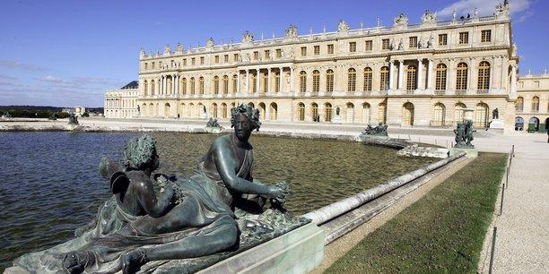 Vue du château de Versailles.