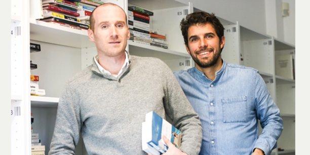 Benjamin Lointier et Benjamin Augros, fondateur de Kiwibook à Nîmes.