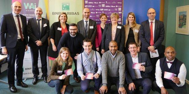 Le jury et les lauréats de Nancy du prix 10000 startups pour changer le monde.