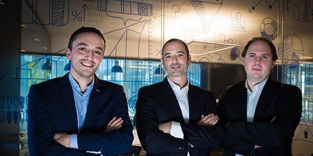 Thélio (ici les associés de l'entreprise, avec le fondateur Alexandre Moine au centre) est installée à Pessac