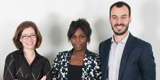 Murielle Renard, Laurène Dia et Pol Barrière (de gauche à droite) sont les nouveaux visages de la direction de Coovia.