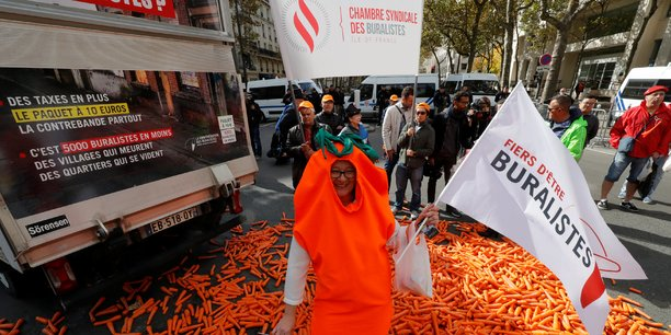 Manifestation de buralistes en octobre dernier.