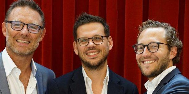 Les trois cofondateurs d'Adikteev