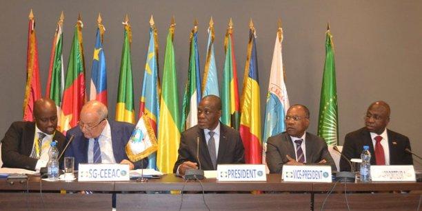 Lors de la 8e Réunion des ministres des Affaires Étrangères de la Communauté économique des États de l'Afrique Centrale (CEEAC) sur la situation de la RCA, le 21 octobre 2017 à  Libreville, la capitale du Gabon.