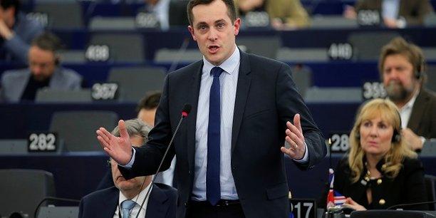 Nicolas Bay lors d'un débat au Parlement européen à Strasbourg le 5 février dernier.