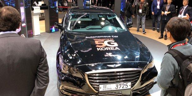 Au salon du mobile de Barcelone, le sud-coréen SK Telecom a présenté un prototype de voiture autonome connecté en 5G.