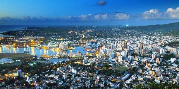 Vue sur Port-Louis, capitale de l'Île Maurice.