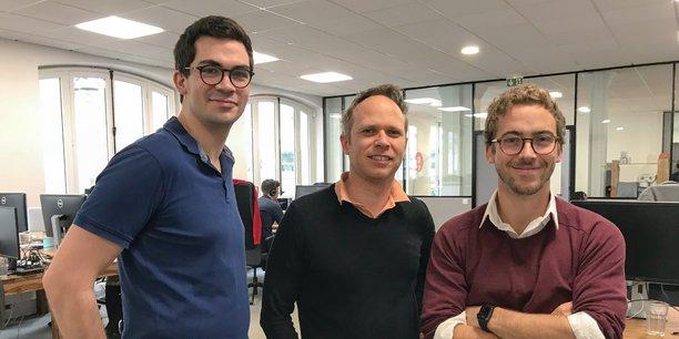 Les trois confondateurs de Lifen, dont Franck Le Ouay (au milieu).
