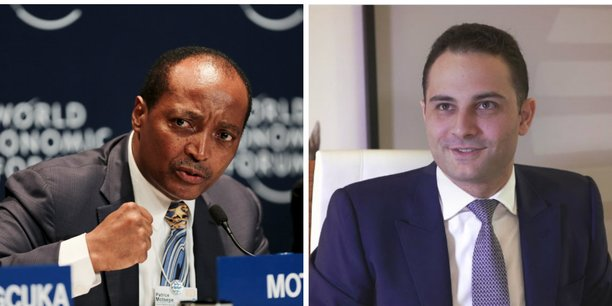 Le deal entre Saham et Sanlam offre au CEO de l'assureur sud-africain, Patrice Motsepe (gauche) une position confortable dans les marchés nord et ouest-africain, alors que Mhamed Alamy (droite) devrait prendre les rênes du nouveau fonds d'investissement.