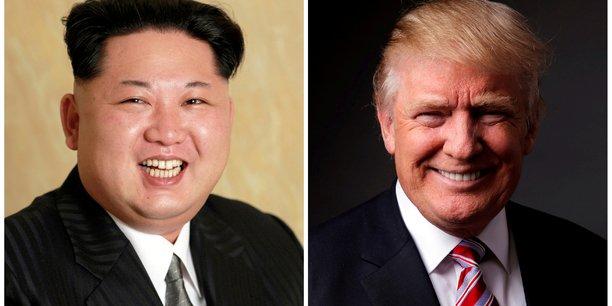 Qui sait ce qu'il va se passer ?, s'est interrogé Donald Trump en référence à un éventuel sommet avec Kim Jong-un. Peut-être que je vais vite m'en aller, ou peut-être que l'on va s'asseoir et conclure le plus grand accord au monde.
