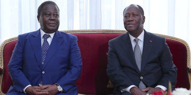 Henri Konan Bédié du PDCI, principal allié du RDR d'Allassane Dramane Ouattara au pouvoir